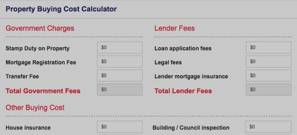 Property Buying Cost Calculator. Direct Credit Home Loans Australia