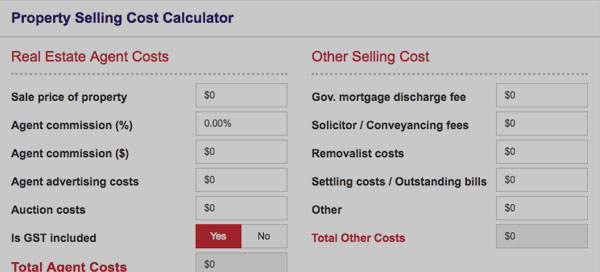 Property Selling Cost Calculator. Direct Credit Home Loans Australia