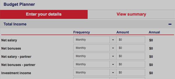 Budget Planner. Direct Home Loans Australia