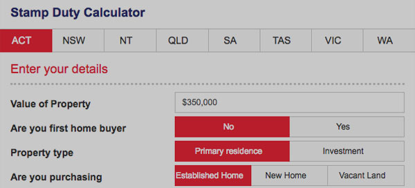 Stamp Duty Calculator. Direct Home loans Australia